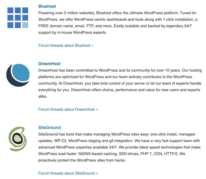 , WordPress網站寄存建議名單及不建議名單 (2020年更新版)