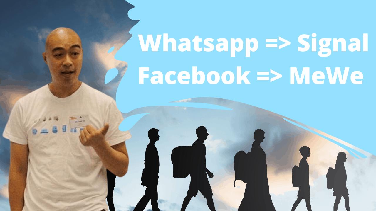 用數據去了解用戶會成功由 Whatsapp 轉到 Signal 及 Facebook 轉到 MeWe 嗎