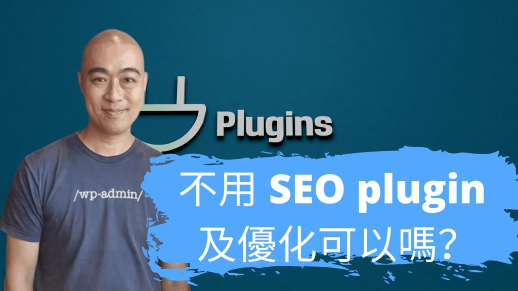 不用 SEO plugin 及優化可以嗎?